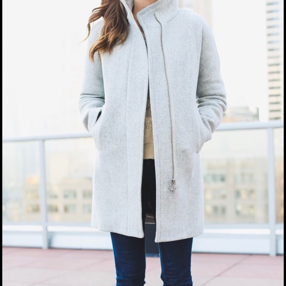 NWT Sz 18 JCrew Grey Wool City Coat b99977083d85